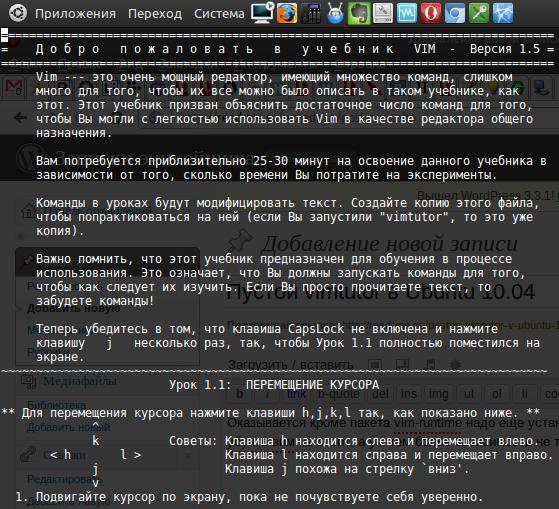 Пустой vimtutor в Ubuntu 10.04
